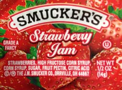 Fig. G - Restaurant pack of  brand name strawberry jam